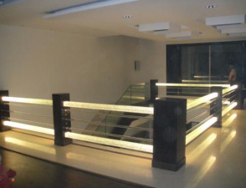 Glass Pillar Stair Project
